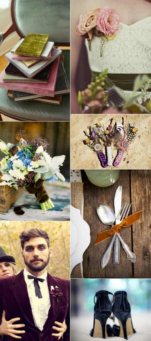 velvet wedding deco tips