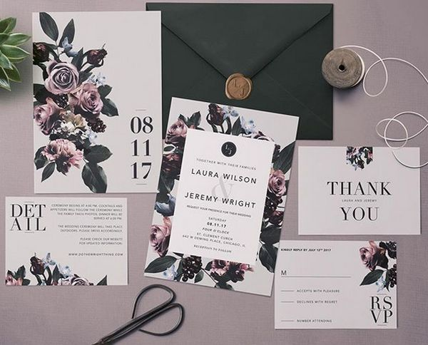 wedding invitation floral 02