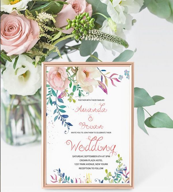 wedding invitation floral 03