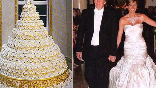 Donald Trump Melania Wedding Cake