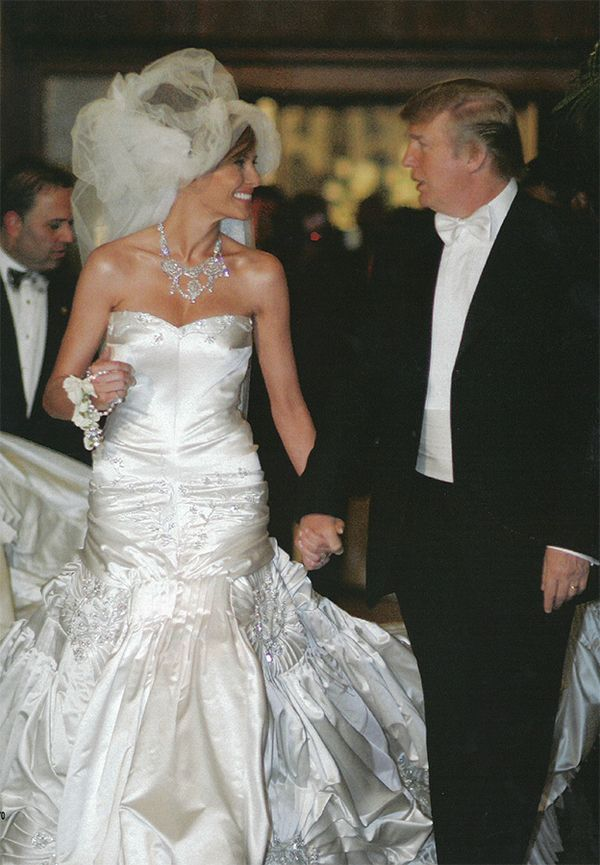 Donald Trump and Melanie Wedding